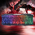 Cool Unique Wired USB Crack Colorful Gaming Computer Lighted Keyboard for WOW LOL CF Gamer/Gifts For Boyfriend