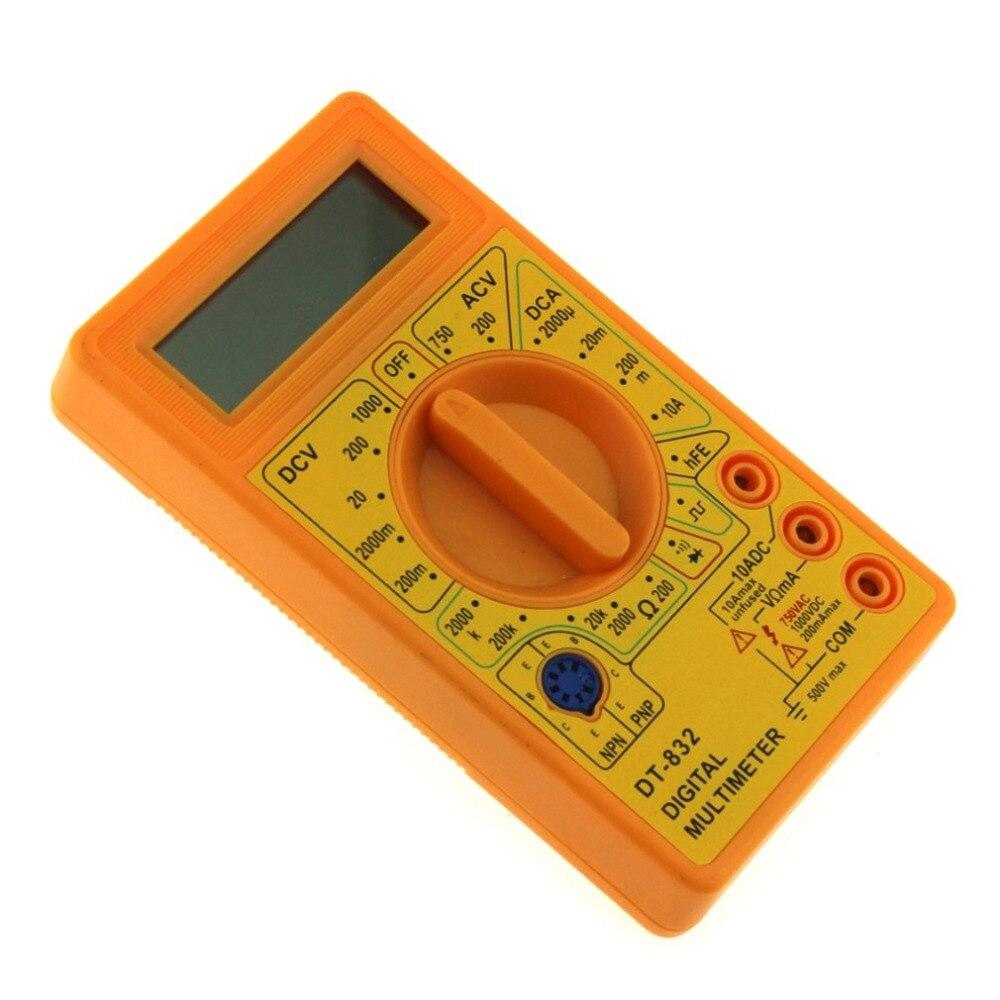 DT-832 Mini Multim/ètre Num/érique de Poche 1999 Comptes AC//DC Volt Amp Ohms Diode hFE Testeur de Continuit/é Amp/èrem/ètre Voltm/ètre Ohmm/ètre