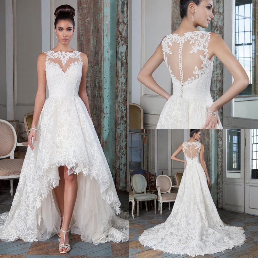 New Collection 2016 Lace Romantic Gorgeous Wedding Dresses A Line ...