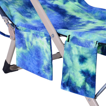 Lounge Chair Beach Towel Beach Chair Cover Microfiber Lounge Chair Cover with Side Storage Pockets for Pool,Sun Lounger Vacation 3