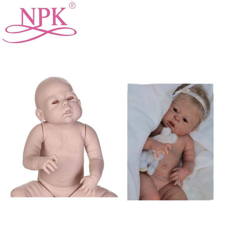 NPK 23 インチ約 58 センチメートルリボーン Bebes 人形キット塗装ブランク人形 Diy の人形解剖学的に正確胴体フル手足  グループ上の おもちゃ & ホビー からの 人形アクセサリー の中 1