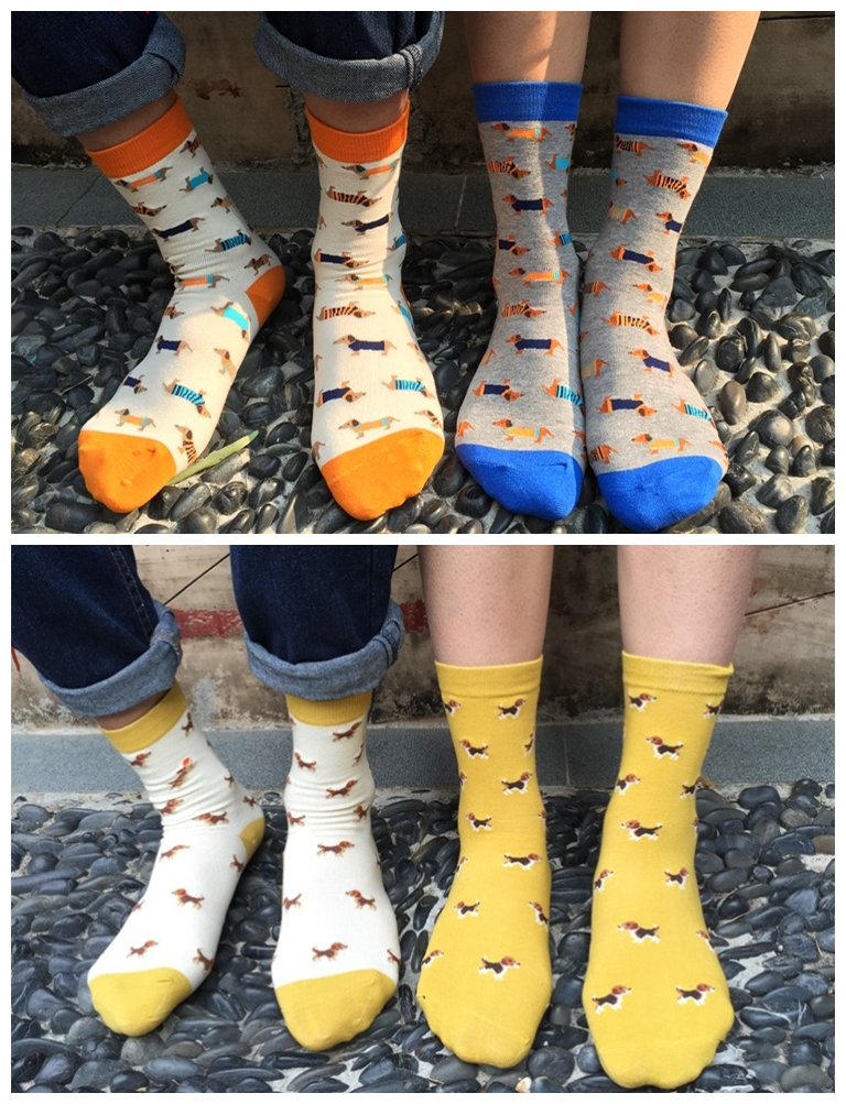 Foot 22-27cm 1lot=4pairs Short Socks Mini Dachshund Puppy Sausage Beagle Dogs  Dog Beige Blue Ash Pet Hound Family Home Cozy Four - Online Get Cheap Sausage Dog Socks -Aliexpress.com Alibaba Group