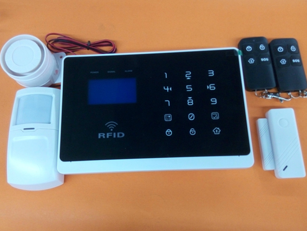 GSM alarm system with RFID card and Touch keypad English/French/Spanish optionalGSM alarm system with RFID card and Touch keypad English/French/Spanish optional