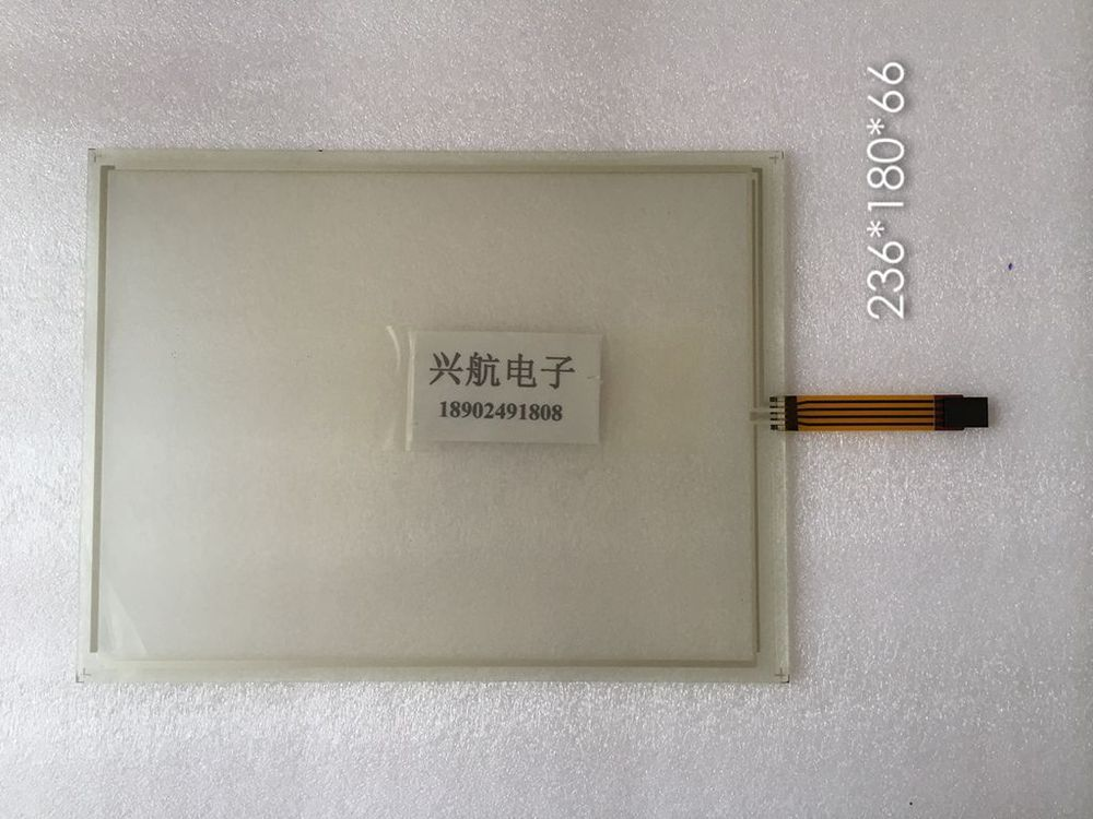 Low-cost 4-wire resistive new authentic 236 * 180 lines long 66 industrial touch screen glass display panel