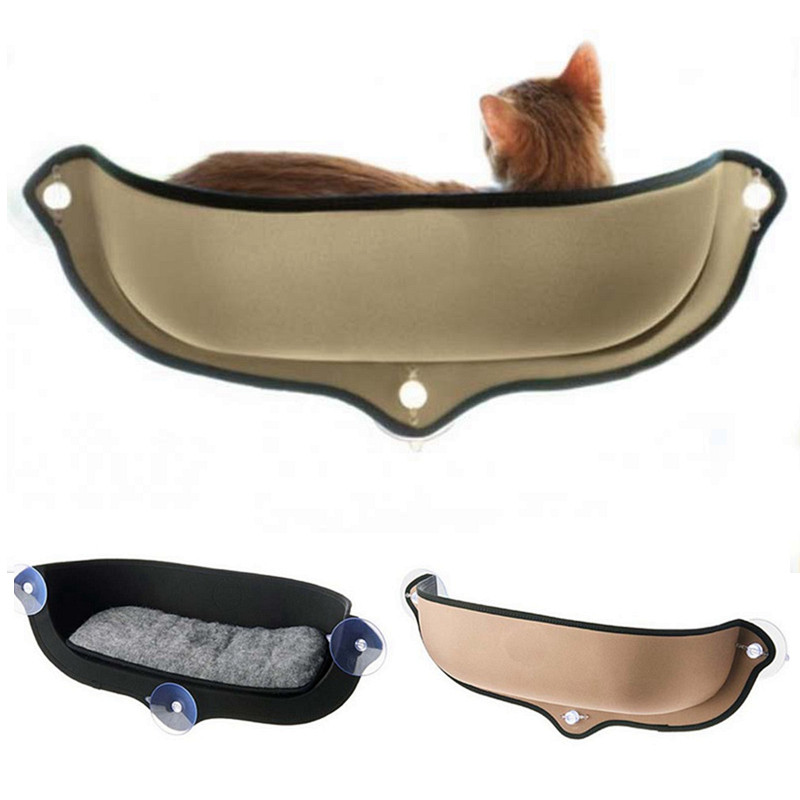 Hot Cute Cats Hammock Hanging Bed Toys New Cat Small Dog Sucker Pet Window Beds Balcony Wall Cat Cage Sunny Seat Pet Supplies Pet Products Home & Garden
