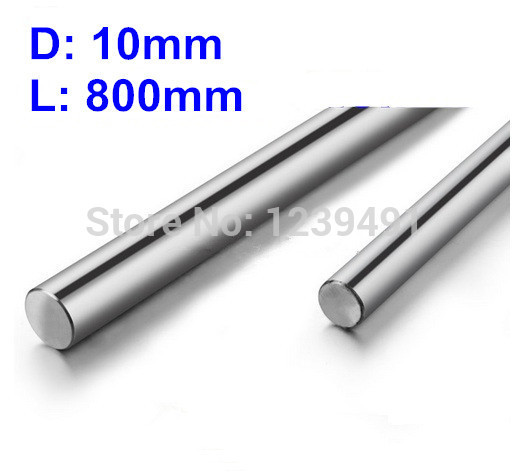 2pcs dia 10mm - L800mm Linear Rail Round Rod Shaft Motion