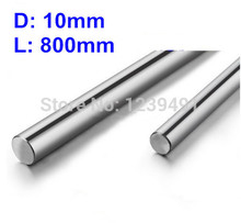 2pcs dia 10mm - L800mm Linear Rail Round Rod Shaft Linear Motion Shaft цена в Москве и Питере