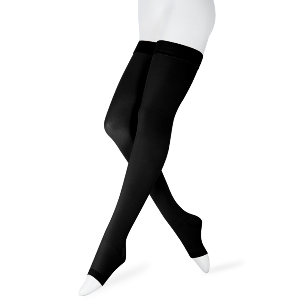 Image 2 - 20 30 mmHg Medical Therapy Compression Stockings for Women's Men's Nurses Graduated Support Varicose Veins Pregnancy Open toe-in Stockings from Underwear & Sleepwears