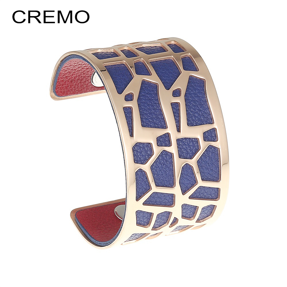 Cremo Giraffe Rose Gold Bangles Statement Dainty Stainless Steel Bracelets Femme Interchangeable Reversible Leather Cuff BangleCremo Giraffe Rose Gold Bangles Statement Dainty Stainless Steel Bracelets Femme Interchangeable Reversible Leather Cuff Bangle