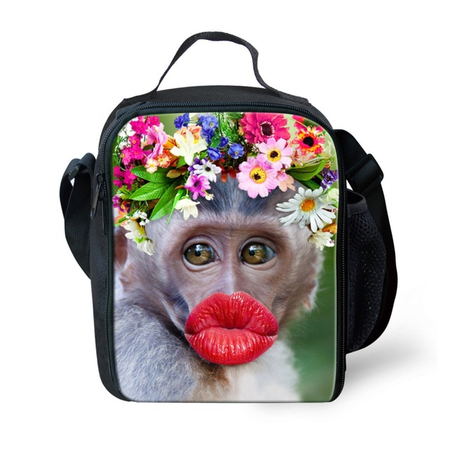 Cute Thermal Bag Women Lunch Bag Zoo Animal Printing Cooler Lunch Box Lady Children Kids Lunch Picnic Bags Insulation Package