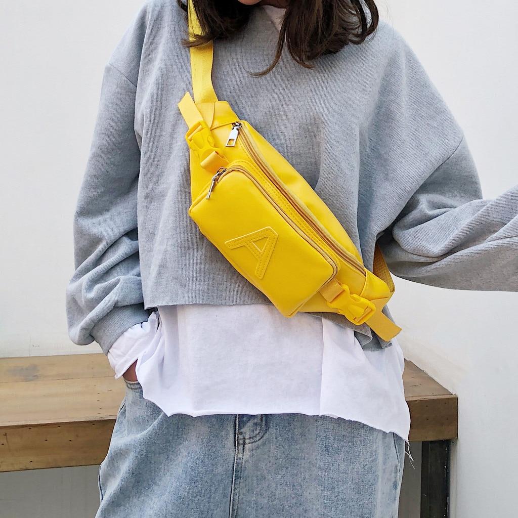 Women Bags Crossbody-Bag Chest-Pack Sac Main Shoulder Waterproof Femme Fashion PU Unisex