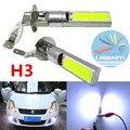 2 UNIDS X H3 10 W H3 de Alta Potencia de la MAZORCA LED de Coches Niebla Luz bulbo 6000 K Blanco Estupendo LED Auto Coche Conducir Antiniebla Lámpara Dropship Niebla lámparas