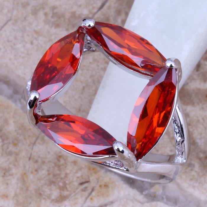 Taille 8 Doré Brillant Fashion Bonne Taille 7 mère Ring Rouge Zircon Women Jewelry