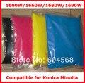 Alta qualidade compatível para Konica Minolta magicolor 1600 W / 1660 W / 1680 W / 1690 W pó de toner de cor, 4 kg/lote, Frete grátis