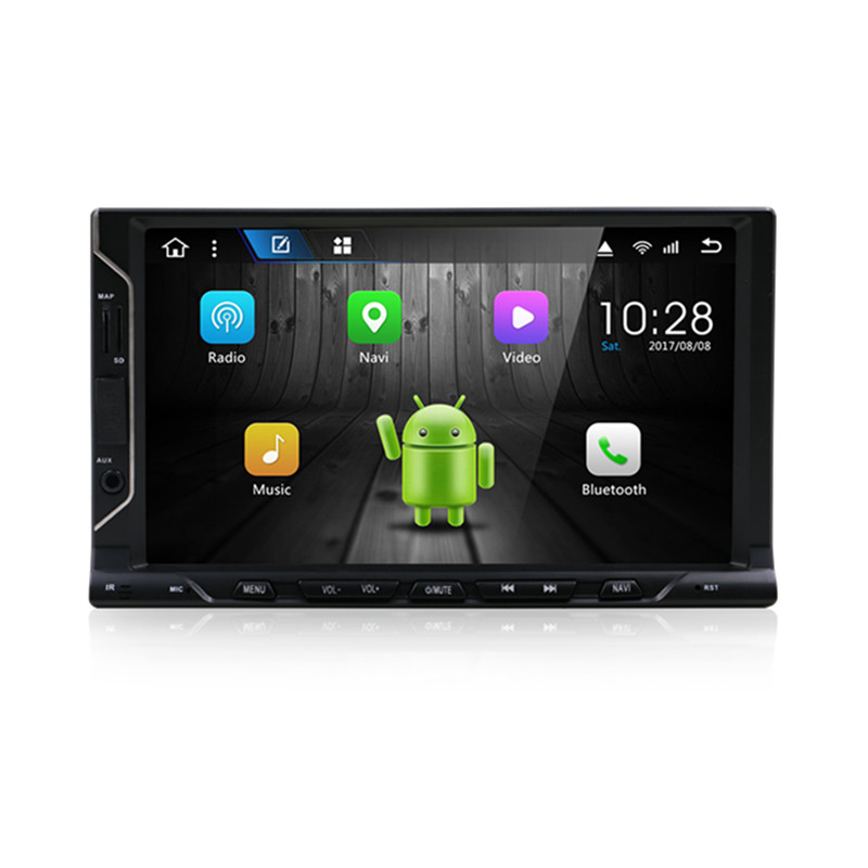 KLYDE 7 1 Din Android 8.1 8 Core universal din NO DVD Car Radio Audio 1024*600 Car Stereo Multimedia Player