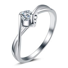 2016 New arrival high quality fashion CZ diamond 925 sterling silver ladies`wedding rings wholesale