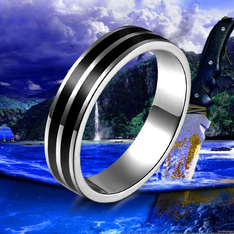 Titanium Band Rings Silver Plated Brushed Wedding 316L Stainless Steel Solid Ring Men Women Gift R37