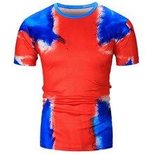 Male 2017 Brand Short Sleeve Casual Slim Fashion Creative 3D Print T Shirt O-Neck Slim Men T-Shirt Tops Fashion Mens Tee Shirt