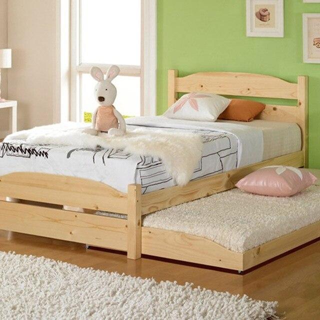 Buena calidad cama de madera maciza muchacha de los niños lindos ...