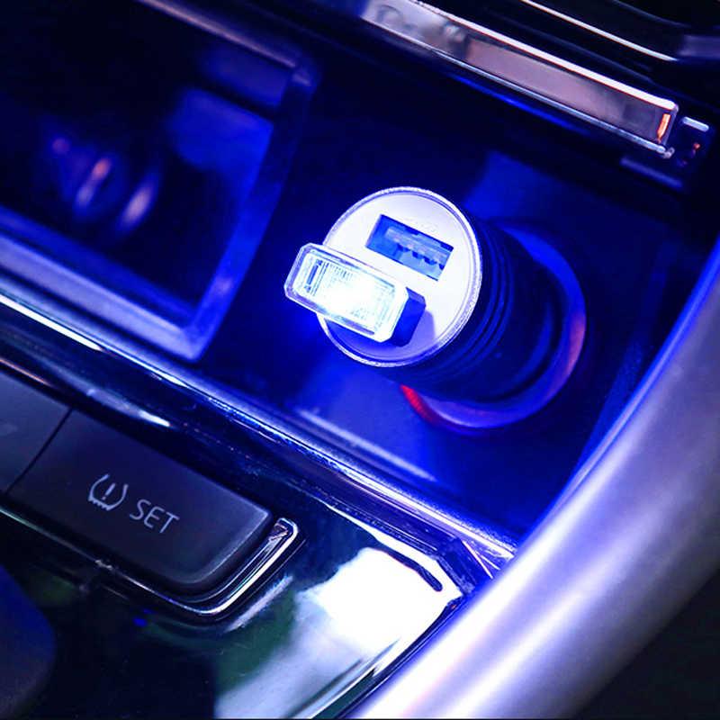1 قطعة سيارة التصميم USB جو مصباح ليد اكسسوارات السيارات ل ميتسوبيشي ASX/أوتلاندر/لانسر تطور/باجيرو /الكسوف/جرانديز