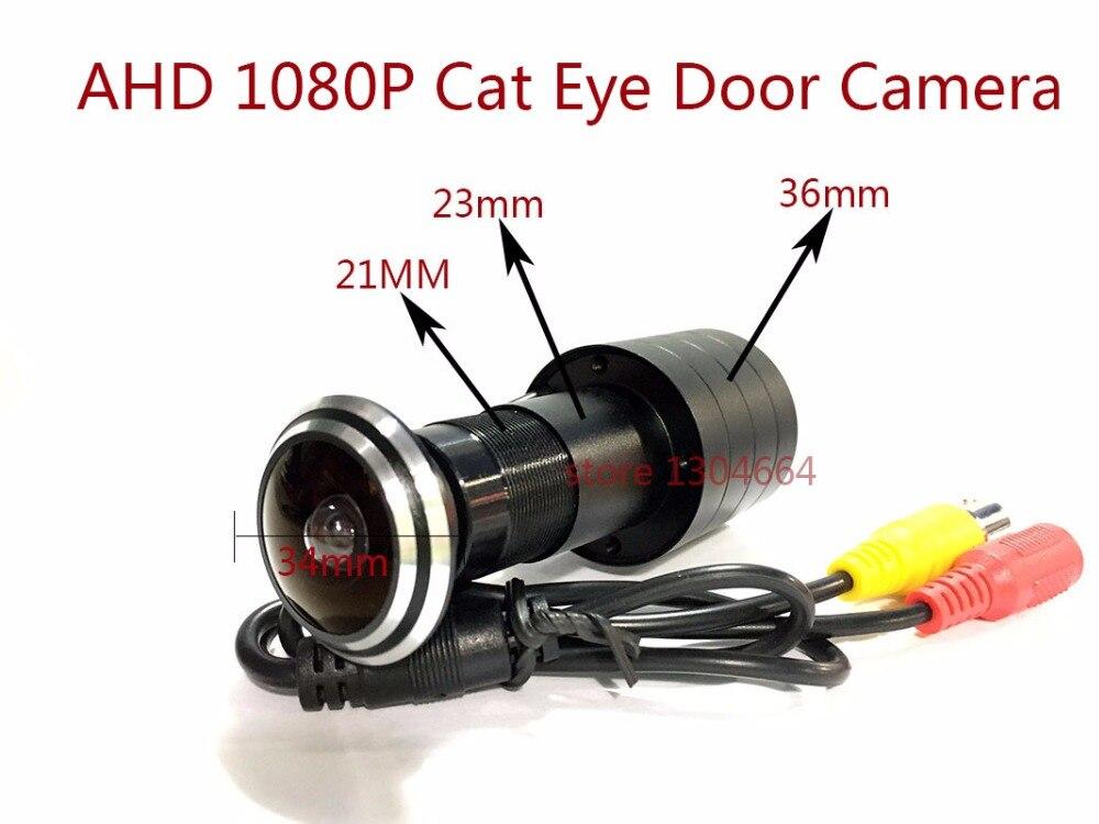 New AHD SONY IMX 323 Sensor 1080P Cat Eye Door Hole Security Color Camera 160 degrees panoramic cctv Video Surveillance camera цена 2017