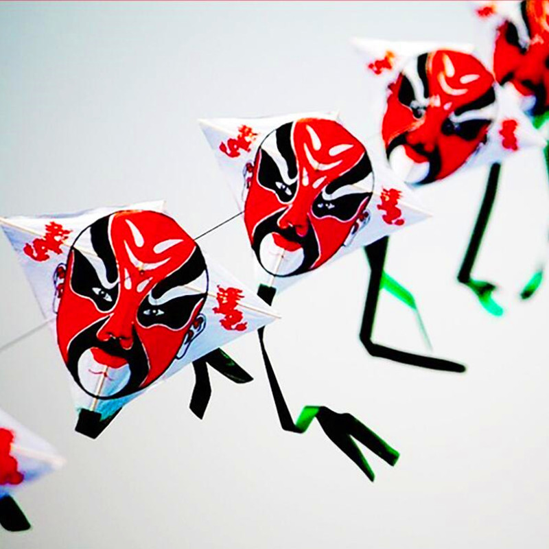 Chinese Traditional Diamond Cartoon Kite With Tails,10 Kites In Series Connection,10pcs/lot Child Kite Hot Sell Free Shipping