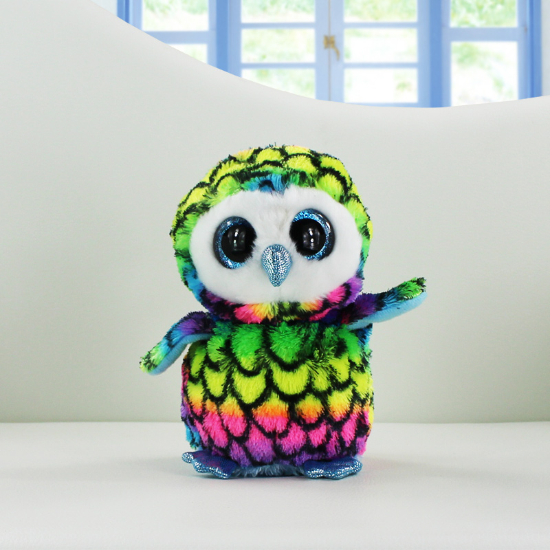 Ty Beanie Boos Plush Toys Beanie Babies Camouflage Owl Pink Dolphin Turtle Penguin Green Dragon Stuffed Animals Soft Baby Dolls