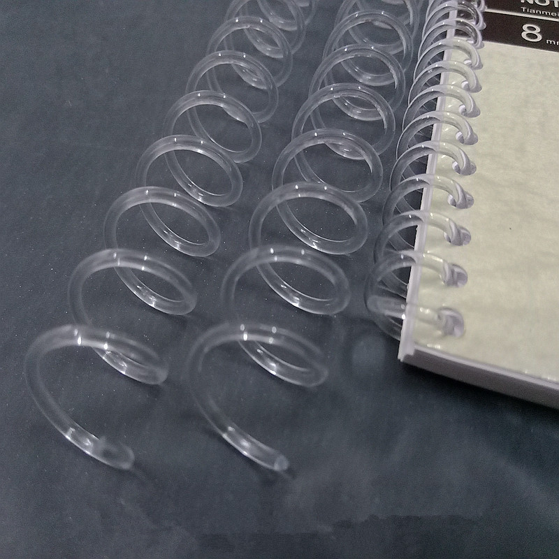 A4 48 Hole Transparent Loose-leaf Plastic Binding Ring Single Coil Spring Spiral Rubber Punch Ring For Notebook School Supplies