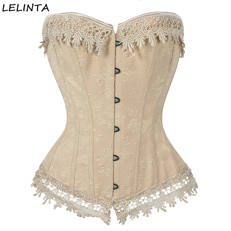 LELINTA Women Waist Trainer   Corsets   And   Bustiers   Overbust Sexy Lingerie Lace Up Steampunk   Corset   Clothing Gothic Corselet