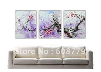 Winter Landscape Plum Blossom Flower Oil Painting LRGP0106