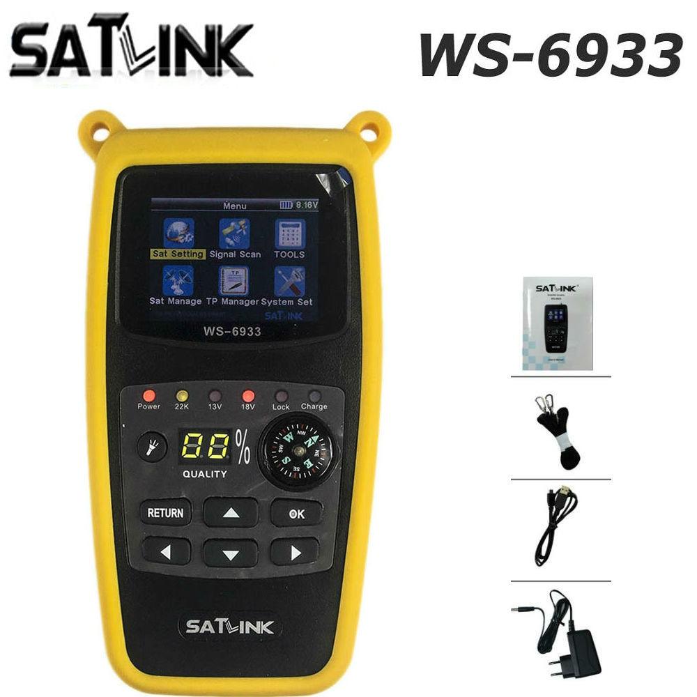DVB S2 Satlink WS 6933 Satellite Finder FTA C KU Band Satlink WS 6933 Digital Satellite