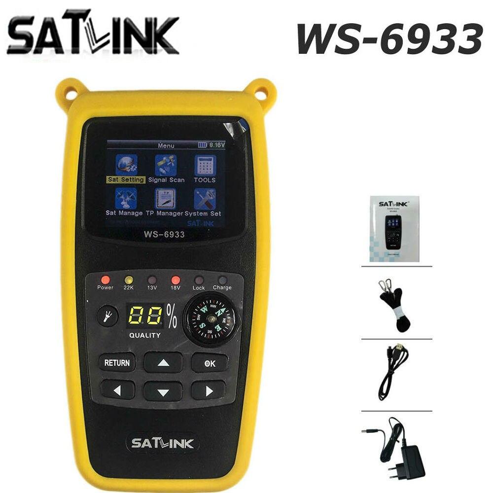 DVB-S2 WS-6933 Satlink Localizador de Satélite FTA C & Banda KU Satlink WS 6933 Digital Satellite Finder Medidor frete grátis