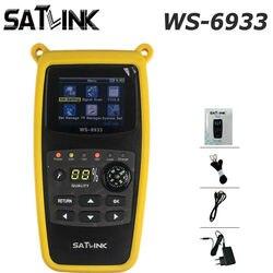 DVB-S2 satlink WS-6933 localizador de satélite fta c & ku banda satlink ws 6933 digital localizador medidor satélite frete grátis