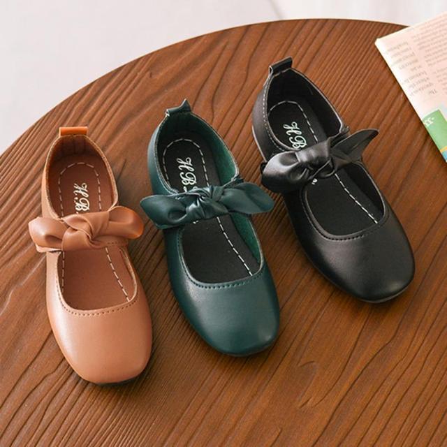 3600df1d2e17f7 TELOTUNY 2018 fashion girls shoes Kids Baby Girl Fashion Princess Bowknot  Dance Nubuck Leather Casual Single Shoes UK J31