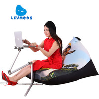 LEVMOON Beanbag Sofa Chair Shell Shrek Seat Zac Comfort Bean Bag Bed Cover Without Filler Cotton