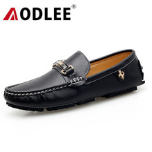 AODLEE Italian Mens Shoes Casual Luxury Brand Fashion Men Loafers Genuine Leather Moccasins Breathable Men Slip on Boat Shoes