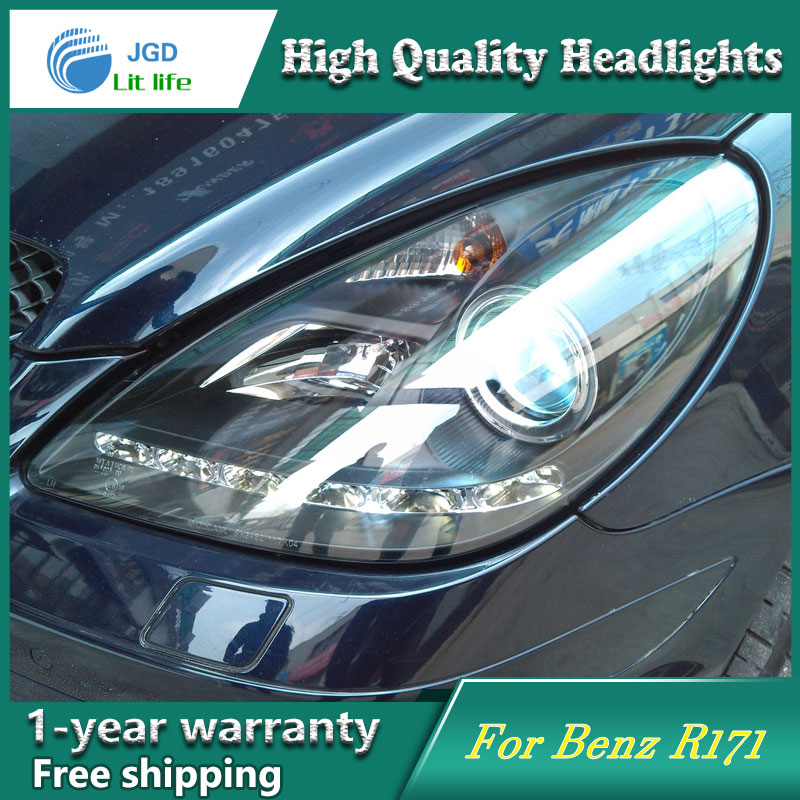 high quality Car styling case for Benz <font><b>R171</b></font> <font><b>Headlights</b></font> LED <font><b>Headlight</b></font> DRL Lens Double Beam HID Xenon car accessories image