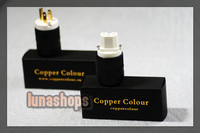 Copper Colour CC US CUPRUM Red Copper + Gold Plated 126 Degree Freeze Power Plug kits LN002757