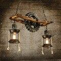 Дизайнерская столовая ресторана креативна  а столовая ресторана-настоящая деревянная подвеска
