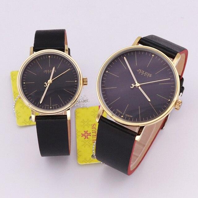 1f98351d87a De júlio mulheres Relógio Relógio Casal Relógio de Quartzo de Japão dos  homens Horas Vestido Moda