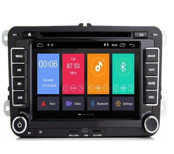 "7""AutoRadio 2 Din Android 9.1 Car DVD Player for VW Golf 5 6 Polo T5 Passat b6 Skoda Octavia 2 3 Seat Leon 2Tiguan GPS Naigation"