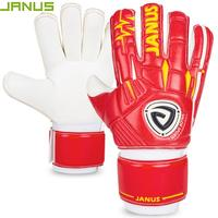 JANUS 2017 New 4MM Thick High Quality Latex Soccer Goalie Training Gloves For Kids Men Football