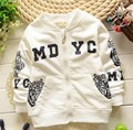 (1piece /lot) 100% cotton 2016 cute tiger baby outerwear