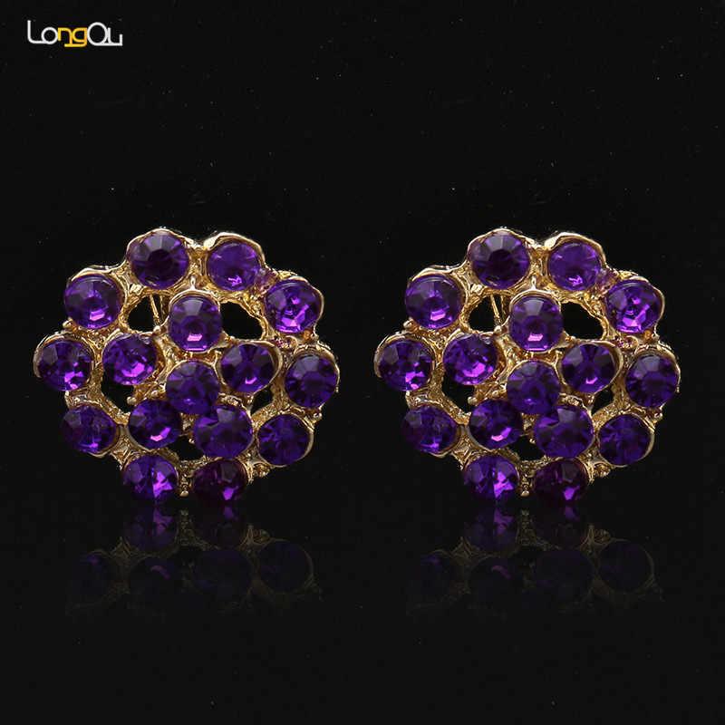 Фиолетовый костюм комплект ювелирных изделий нигерийские Свадебные африканские бусины набор кристалл кулон на шнурке ожерелье набор Бесплатная доставка Оптовая продажа