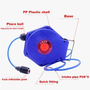 Image 3 - Tuyau dair pneumatique pour automobile, 9M, avec Tube PU, diamètre de 8MM, ID 5MM, enrouleur rétractable automatique, tambour télescopique PU8 * 5