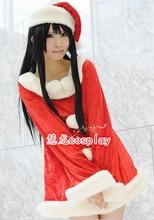 Cos Anime K-ON Akiyama Mio! cosplay de halloween ropa de navidad roja dulce conjunto cosplay dress + hat