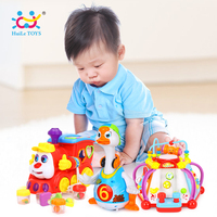 Wholesale Baby Toys Multifunctional Game Toys & Electric Hip Pop Dance Swing Goose & IQ Train On Wheels Electric Toy
