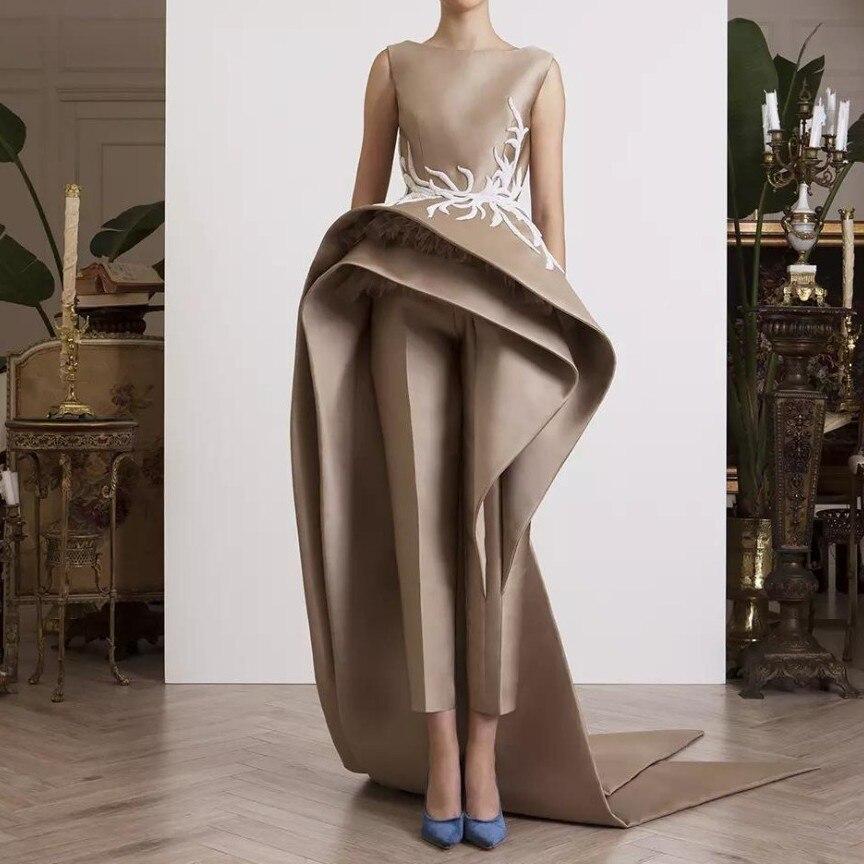 Robe De soirée de Designers spéciaux robe De soirée en Satin robe de soirée avondjurk dentelle Appliques robes De soirée élégantes longues