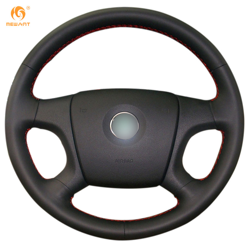 MEWANT Black Artificial Leather Car Steering Wheel Cover for Old Skoda Octavia 2005-2009 Fabia 2005-2010