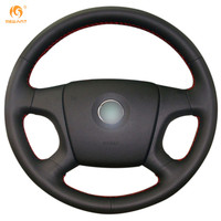 Steering Wheel Cover For Old Skoda Octavia Skoda Fabia Car Special Hand Stitched Black Genuine Leather